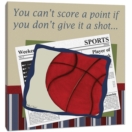 Basketball in the News Canvas Reproduction