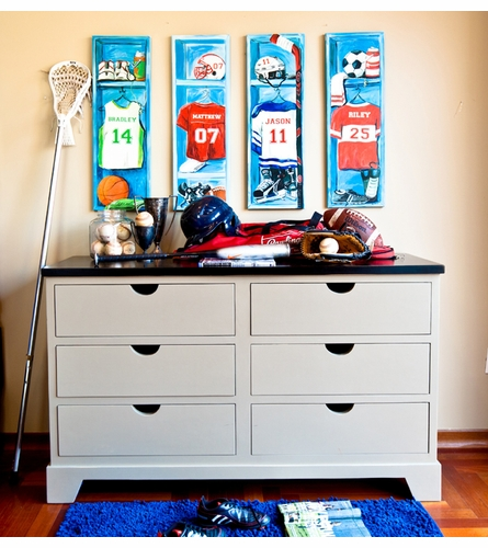 Basketball Locker Canvas Wall Art