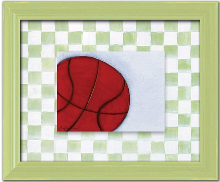Basketball Personalized Framed Canvas Reproduction