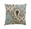Batavia Square Throw Pillow in Azure
