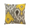 Batavia Square Throw Pillow in Citrine