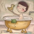 Bath Time Fun Boy Canvas Reproduction