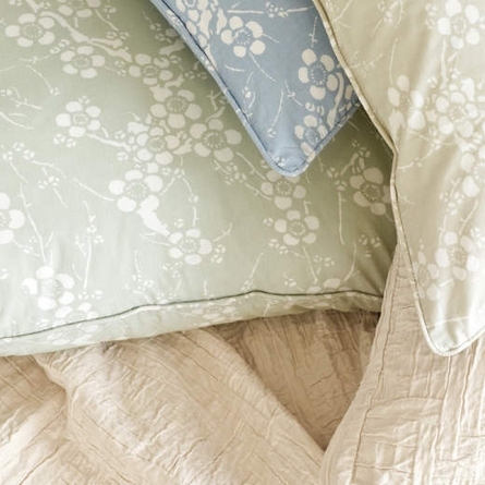 On Sale Batik Blossom Oceanic Euro Sham