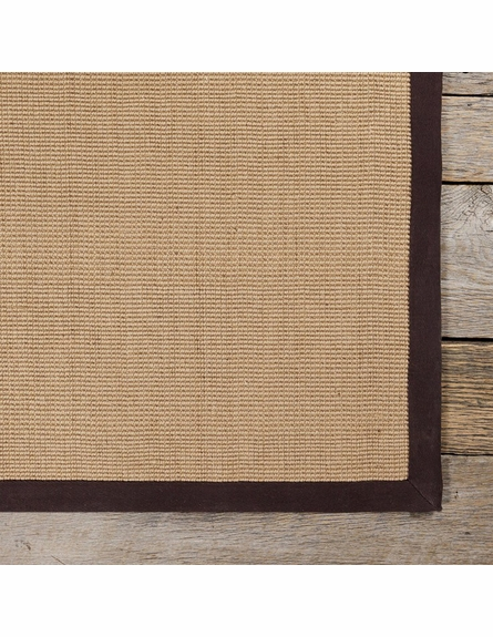 Bay Sisal Rug with Brown Border