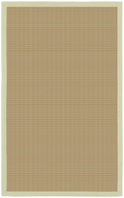 Bay Sisal Rug With Green Border By Chandra Rugs