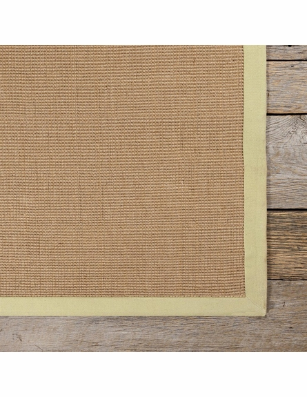 Bay Sisal Rug with Green Border