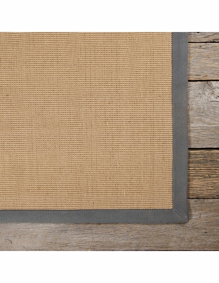 Bay Sisal Rug with Grey Border
