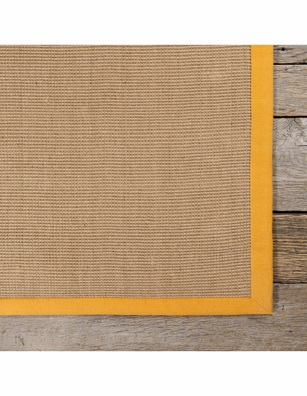 Bay Sisal Rug with Orange Border