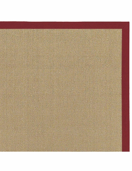 Bay Sisal Rug with Red Border