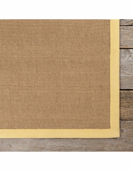 Bay Sisal Rug with Yellow Border