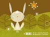 Be Balanced Bunnies Canvas Wall Art