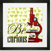 Be Curious Framed Art Print