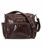 Be Fabulous in Brown Earth Leather with Zany Zinnias Lining