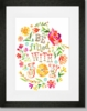Be Filled with Joy Framed Art Print