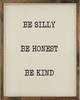 Be Kind Vintage Framed Art Print