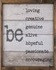 Be Loving Vintage Framed Art Print
