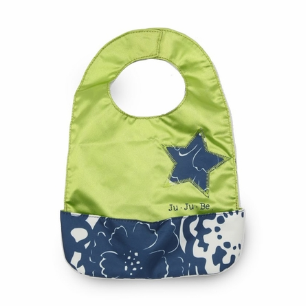 Be Neat Bib in Cobalt Blossoms
