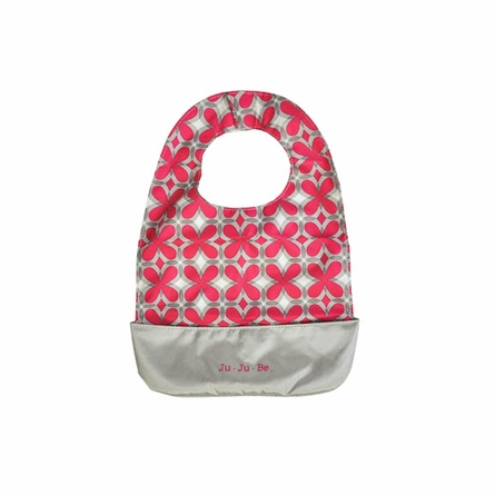 Be Neat Bib in Pink Pinwheels
