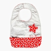 Be Neat Bib in Scarlet Petals