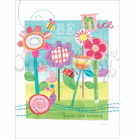 Be Nice Poster Wall Decal