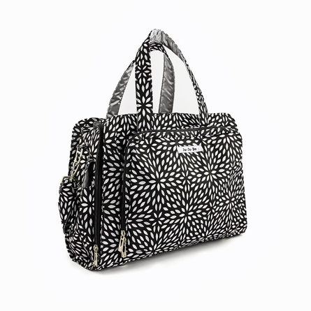 Be Prepared Diaper Bag in Platinum Petals