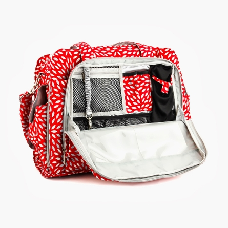 Be Prepared Diaper Bag in Scarlet Petals