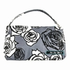 Be Quick Clutch Diaper Bag in Charcoal Roses