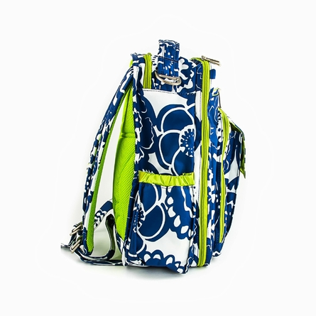 Be Right Back Diaper Bag in Cobalt Blossoms