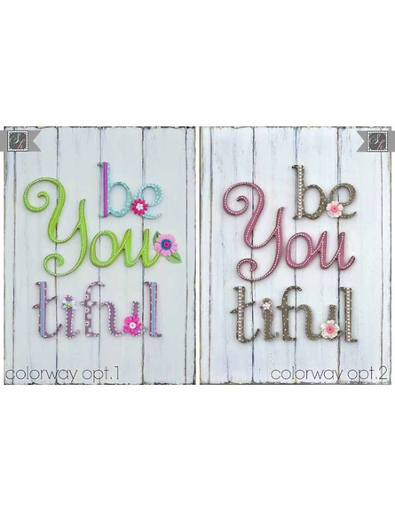 Be You Tiful Bold Canvas Wall Art
