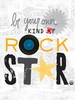 Be Your Own Kind of Rock Star Canvas Wall Art