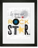 Be Your Own Kind of Rock Star Framed Art Print