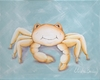 Beach Baby Crab Canvas Reproduction
