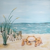Beach Baby on the Seashore Canvas Reproduction