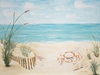 Beach Baby with Starfish Canvas Reproduction