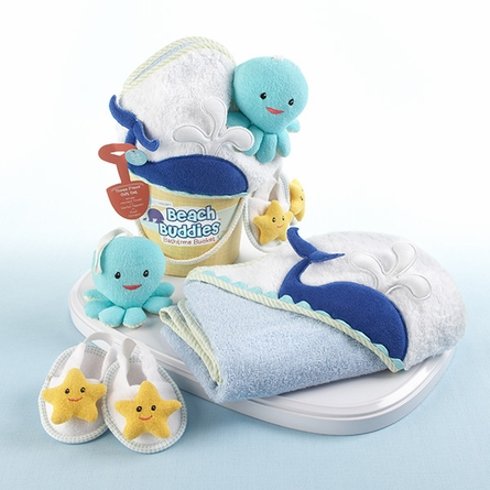 Beach Buddies Three-Piece Bathtime Bucket Gift Set