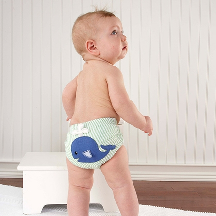 Beach Bums 3-Piece Diaper Cover Gift Set 0-6 Months