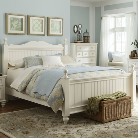 Beach Cottage Low Poster Bed