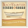 Beach Volunteer Rescue Squad Framed Wall Art