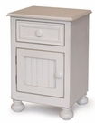 Beadboard Nightstand With Door