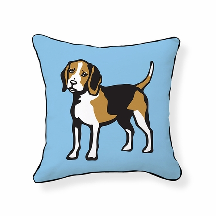Beagle Reversible Throw Pillow