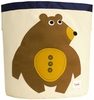 3 Sprouts Bear Canvas Storage Bin