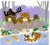Bear-ly Fishing Paint by Number Wall Mural