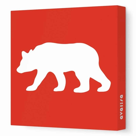 Bear Silhouette Canvas Wall Art