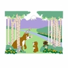 Bears & Butterflies Paint by Number Wall Mural