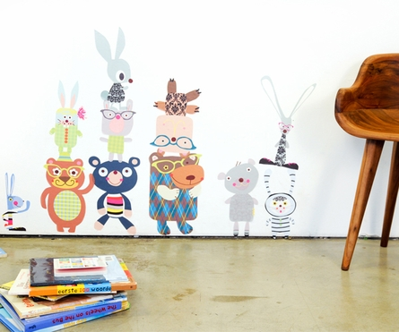 Bears-n-Bunny Rabbits Fabric Wall Decals