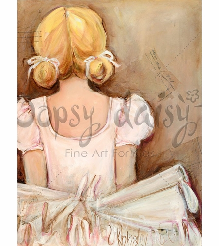 Beautiful Ballerina - Blonde Canvas Wall Art