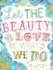 Beauty We Love Canvas Wall Art