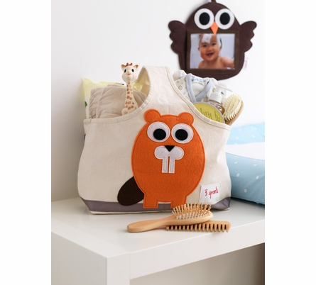 3 Sprouts Beaver Canvas Storage Caddy