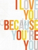 Because You're You Canvas Wall Art