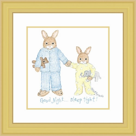 Bedtime Bunnies Framed Lithograph